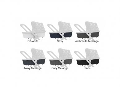 Universalus vežimėlis Dubatti 2in1 Silver/Melange Grey Melange Grey 8