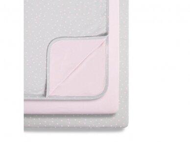 3 dalių patalynės komplektas lovytei - lopšiukui Pink Spot 4