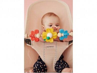 BABYBJÖRN gultukas su žaisliuku Bliss Pearly pink Mesh 3D