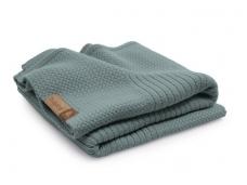Bugaboo vežimėlio vilnos užklotas / soft wool blanket PETROL BLUE MELANGE