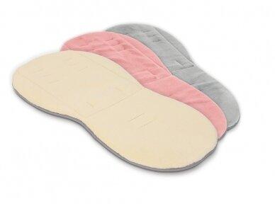 EGG Dvipusis įdėklas vežimėliui / Reversible Fur Liner Pink 3