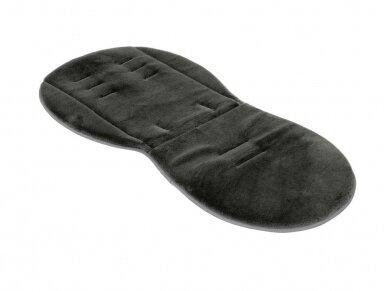 EGG Dvipusis įdėklas vežimėliui / Reversible Fur Liner  Black/Bluch