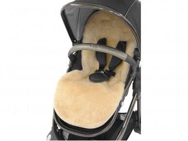EGG natūralios vilnos kailis į vežimėlį Sheep skin  2