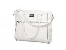 Emmaljunga EXCLUSIVE mamos rankinė White Leatherette