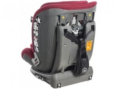 Inglesina newton 1.2.3 IFIX automobilinė kėdutė 9 -36 kg red su baze 4
