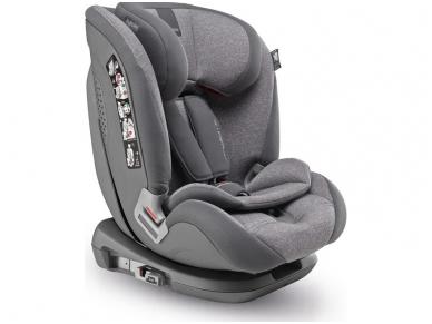 Inglesina newton 1.2.3 IFIX automobilinė kėdutė 9 -36 kg grey su baze
