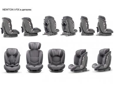 Inglesina newton 1.2.3 IFIX automobilinė kėdutė 9 -36 kg grey su baze 3