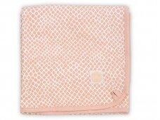 Jollein anklodė lopšiui Gyvatė Pale Pink 75x100