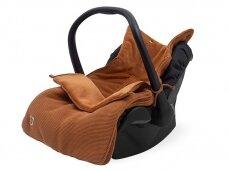Jollein Basic Knit Caramel vokelis automobilinei  kėdutei, lopšiukui
