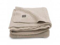 Jollein megztas pledas lopšiukui/lovytei Bliss knit Nougat  75x100 cm