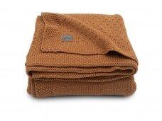 Jollein megztas pledas lopšiukui/lovytei Bliss knit Caramel 75x100 cm