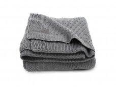 Jollein megztas pledas lopšiukui/lovytei Bliss knit Storm grey  75x100 cm