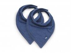 Jollein seilinukas Bib Bandana Basic Stripe Jeans Blue  2 vnt.