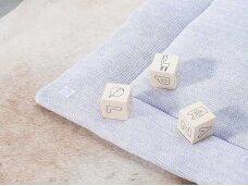 Jollein žaidimų kilimėlis Melange Knit 80x100 cm. Soft Lilac