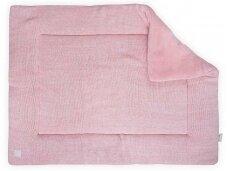 Jollein žaidimų kilimėlis Melange Knit 80x100 cm. Soft Pink