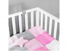 Jollein žaidimų kilimėlis Block 80x100 cm. Pink Grey