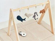 Jollein žaidimų kilimėlis Teddy Cream White 80x 100 cm.