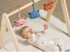 Jollein žaidimų kilimėlis River Knit 80x100 cm. Cream White
