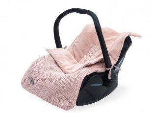 Jollein River Pale Pink vokelis automobilinei kėdutei, lopšiukui