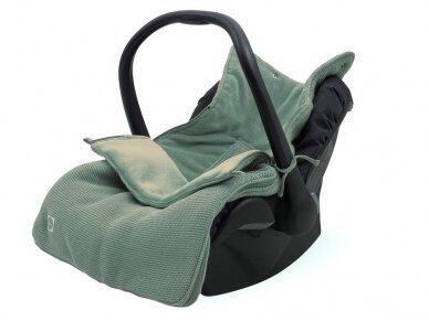 Jollein Basic Knit ASH Green vokelis automobilinei  kėdutei, lopšiukui