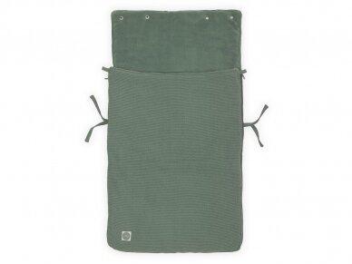 Jollein Basic Knit ASH Green vokelis automobilinei  kėdutei, lopšiukui 2
