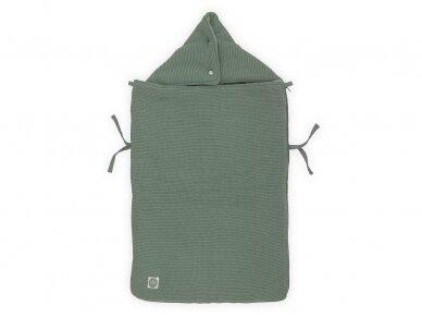 Jollein Basic Knit ASH Green vokelis automobilinei  kėdutei, lopšiukui 3