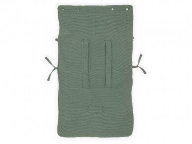 Jollein Basic Knit ASH Green vokelis automobilinei  kėdutei, lopšiukui 4