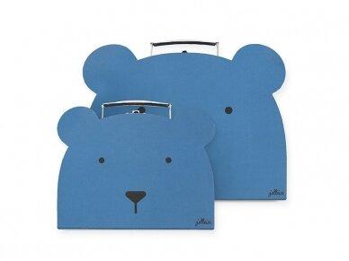 Jollein daiktų dėžutės Animal Club Steel Blue 2vnt