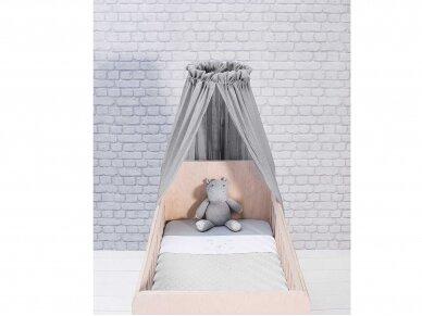 Jollein lovytės baldakimas Soft Grey 155cm 2