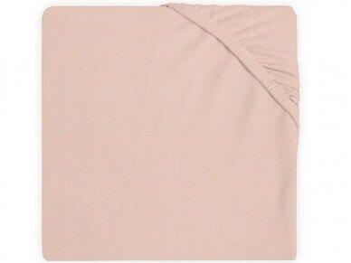 Jollein trikotažinė paklodė su guma Jersey Pale Pink 60x120