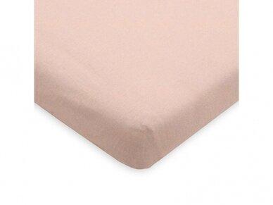 Jollein trikotažinė paklodė su guma Jersey Pale Pink 60x120 2