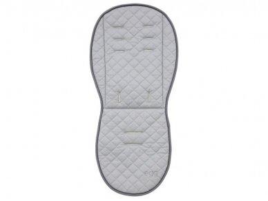 EGG Dvipusis įdėklas vežimėliui / Reversible Fur Liner  Black/Bluch 2