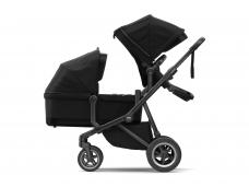 Universalus vežimėlis pametinukams Thule Sleek 2in1 Black Black