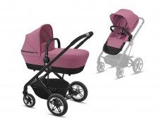 Universalaus vežimėlio komplektas Cybex Talos S 2in1 Magnolia Pink, black frame