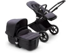 Universalus vežimėlio komplektas 2in1 Bugaboo Fox 3 Premium Mineral collection Washed black/washed black/black važiuoklė