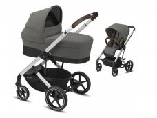 Universalus vežimėlio komplektas 2in1 Cybex Balios S Lux Soho Grey / Silver