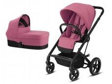 Universalus vežimėlio komplektas 2in1 Cybex Balios S Lux Magnolia Pink / Black