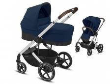 Universalus vežimėlio komplektas 2in1 Cybex Balios S Lux Navy Blue  / Silver