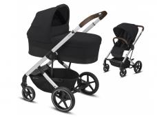 Universalus vežimėlio komplektas 2in1 Cybex Balios S Lux Deep Black / Silver