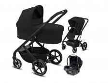 Universalus vežimėlio komplektas 3in1 Cybex Balios S Lux Deep Black / Black