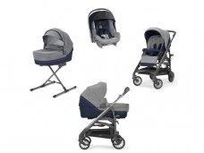 Universalus vežimėlio komplektas Inglesina Trilogy 4in1 Antigua Blue/Titanio-ardesia važiuoklė