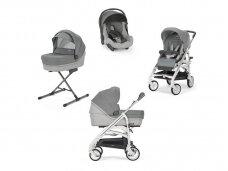 Universalus vežimėlio komplektas Inglesina Trilogy 4in1 Cayman Silver/Silver-white važiuoklė