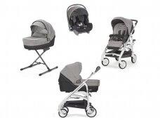 Universalus vežimėlio komplektas Inglesina Trilogy 4in1 Maui Grey/Silver-white važiuoklė