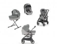Universalus vežimėlio komplektas Inglesina Trilogy 4in1 Cayman Silver/Titanio-ardesia važiuoklė