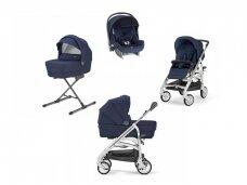 Universalus vežimėlio komplektas Inglesina Trilogy 4in1 Sailor Blue/Silver-white važiuoklė