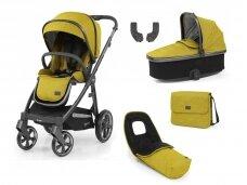 Universalus vežimėlis 5in1 Oyster 3 Mustard/ city gray