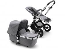 Universalus vežimėlis Bugaboo Cameleon 3 PLUS v2 ALU/Grey Melange/ Grey Melange