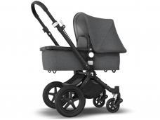 Universalus vežimėlis Bugaboo Cameleon 3 PLUS V2 Black/Grey Melange/ Grey Melange