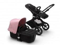 Universalus vežimėlis Bugaboo Fox 2 black/ black/ Soft pink