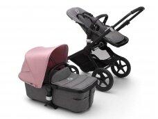 Universalus vežimėlis Bugaboo Fox 2 black/ grey melange/  soft pink